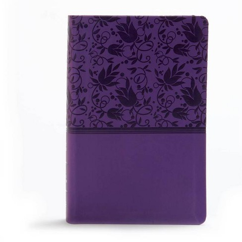 KJV Large Print Personal Size Reference Bible, Purple Leathertouch - by  Holman Bible Staff (Leather_bound) - image 1 of 1
