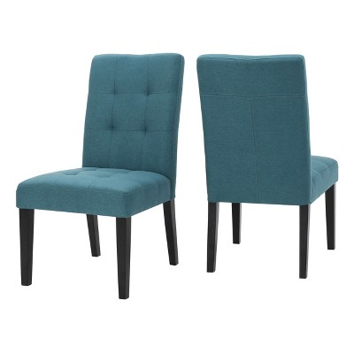 Set of 2 Bronson Dining Chair Teal - Christopher Knight Home