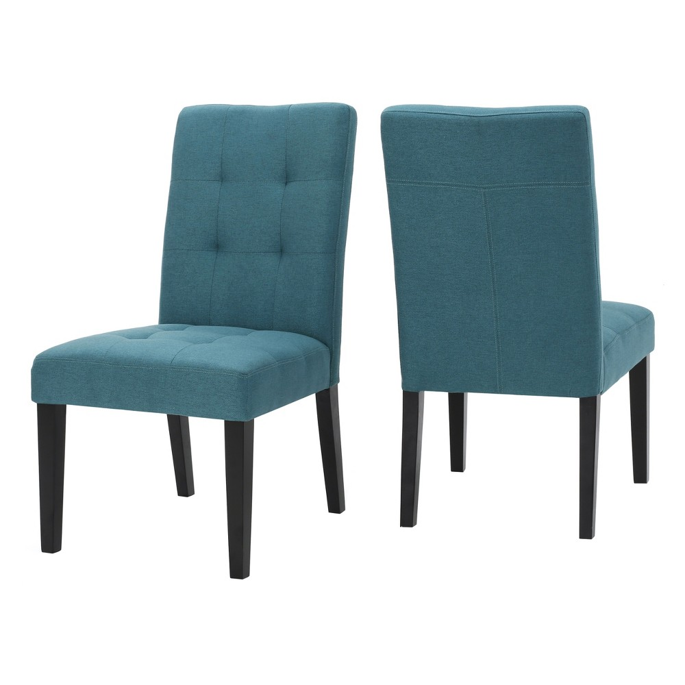 Bronson Dining Chair (Set of 2) - Teal (Blue) - Christopher Knight Home