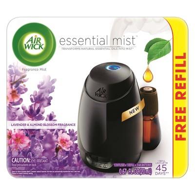 Air Wick Essential Mist Lavender & Almond Blossom Air Freshener - 0.67oz
