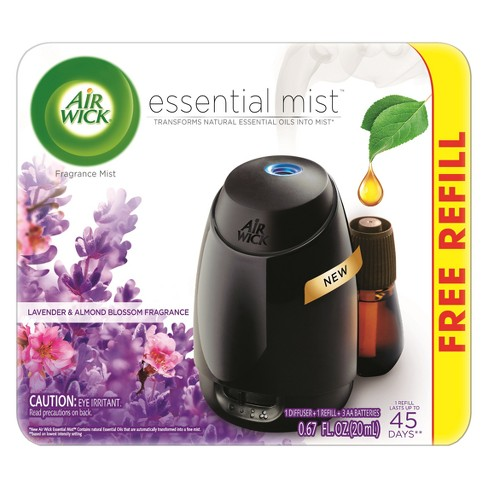 Air Wick Essential Mist Lavender & Almond Blossom Air Freshener - 0.67oz - image 1 of 3
