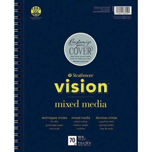 Strathmore Vision Mixed Media Pad, 9 x 12 Inches, 98 lb, 70 Sheets - image 1 of 1