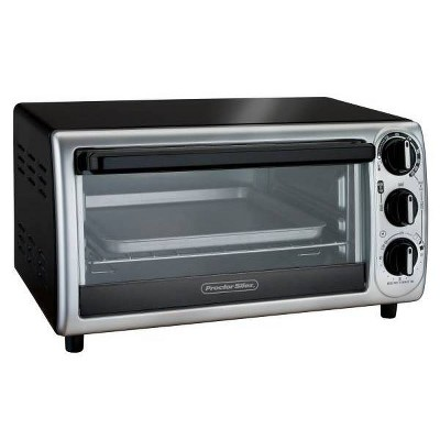 Proctor Silex 4-Slice Toaster Oven - Black