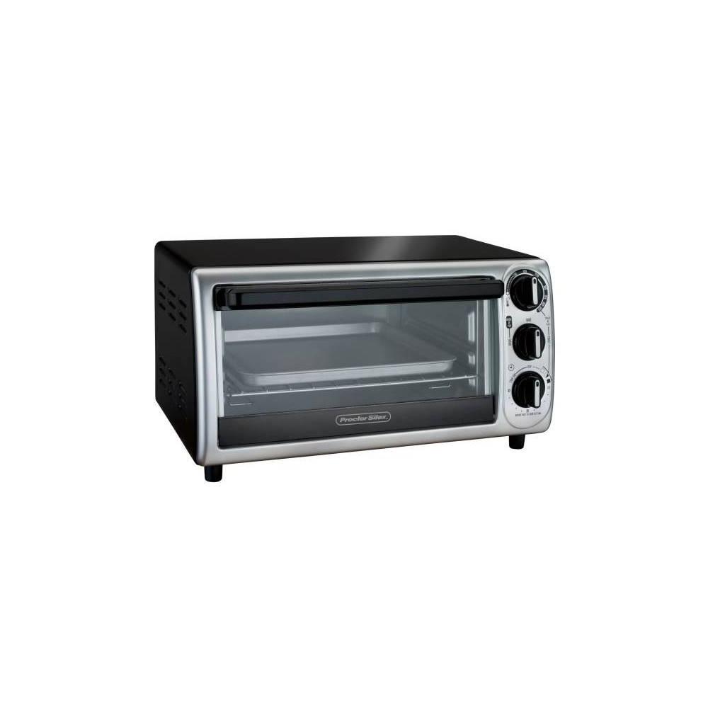 Image of Proctor Silex 4-Slice Toaster Oven - Black
