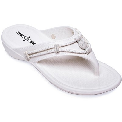 Minnetonka Women's EVA Silverthorne Prism Thong Sandals