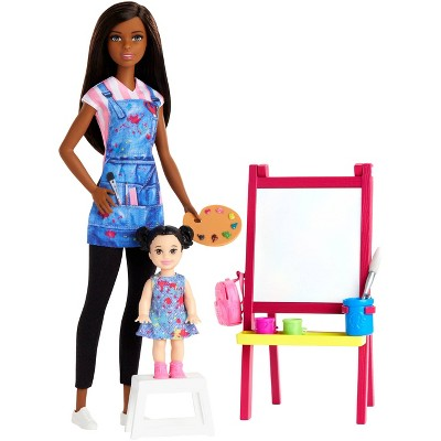 Barbie You Can Be Anything Art Teacher Brunette Doll