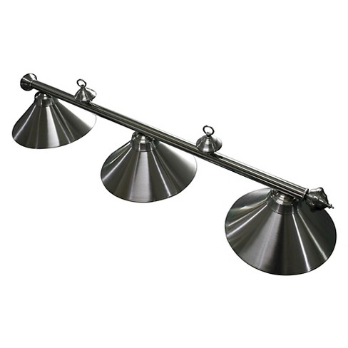 Hathaway Soft Brushed Stainless Steel 3 Shade Billiard Light - image 1 of 4