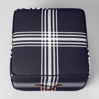 Plaid Pouf - Midnight Blue - Hearth & Hand™ with Magnolia