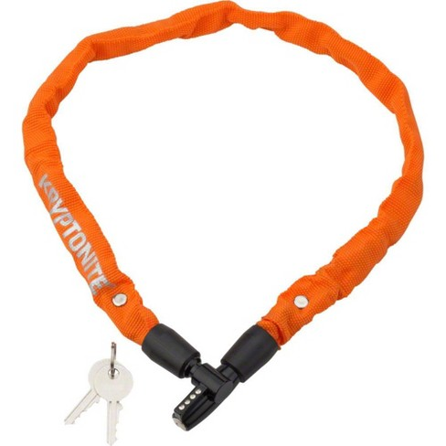 Kryptonite Keeper 465 Chain Lock with Key: 2.13' x 4mm Orange - image 1 of 1