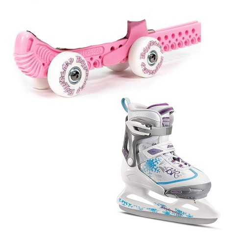 Rollergard ROC-N-Roller Guard, Pink (2 Pack) & Bladerunner Micro Ice Girl Skates - image 1 of 4