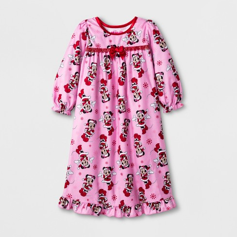 60071b07bf Toddler Girls  Minnie Mouse Nightgown - Pink 4T   Target