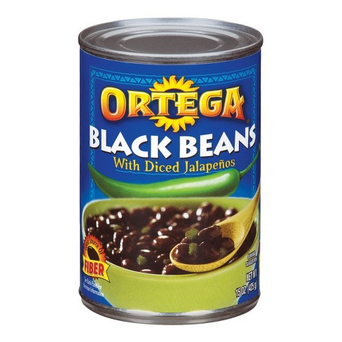 Ortega Black Beans with Diced Jalapenos 15-oz. - image 1 of 1