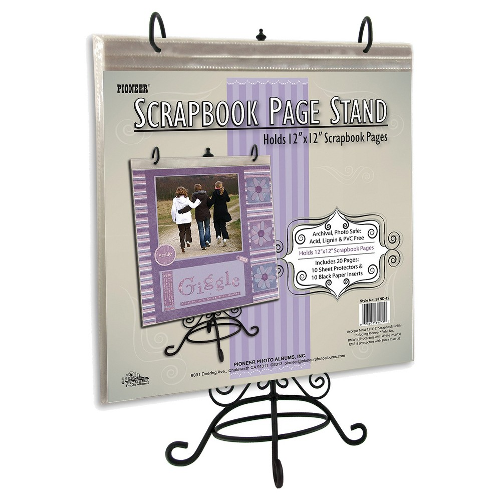 Image of Metal Scrapbook Page Stand, Purple Gray