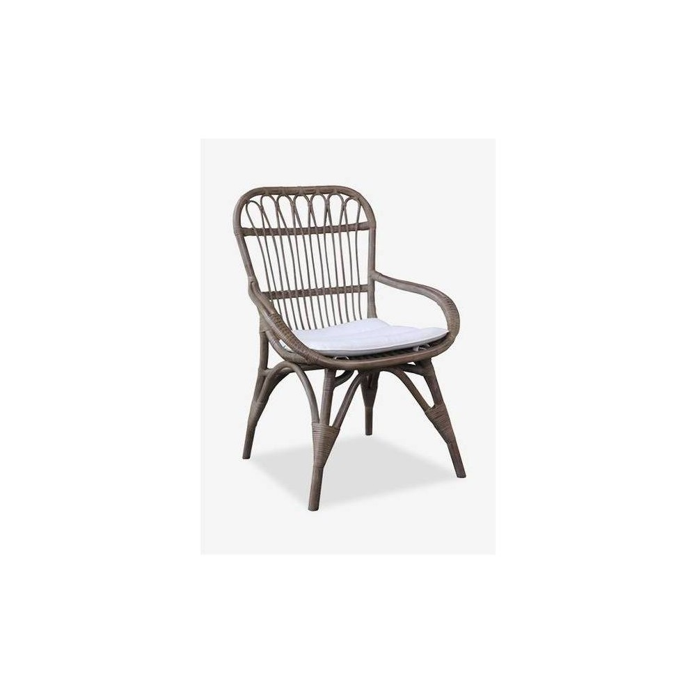 Nona Rattan Dining Chair Vintage Gray - East At Main