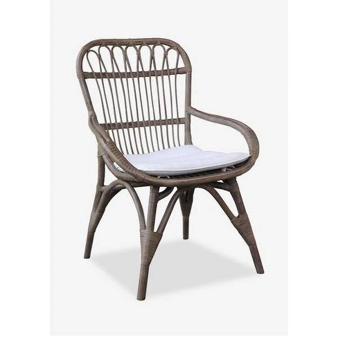 Nona Rattan Dining Chair Vintage Gray - East At Main - image 1 of 1