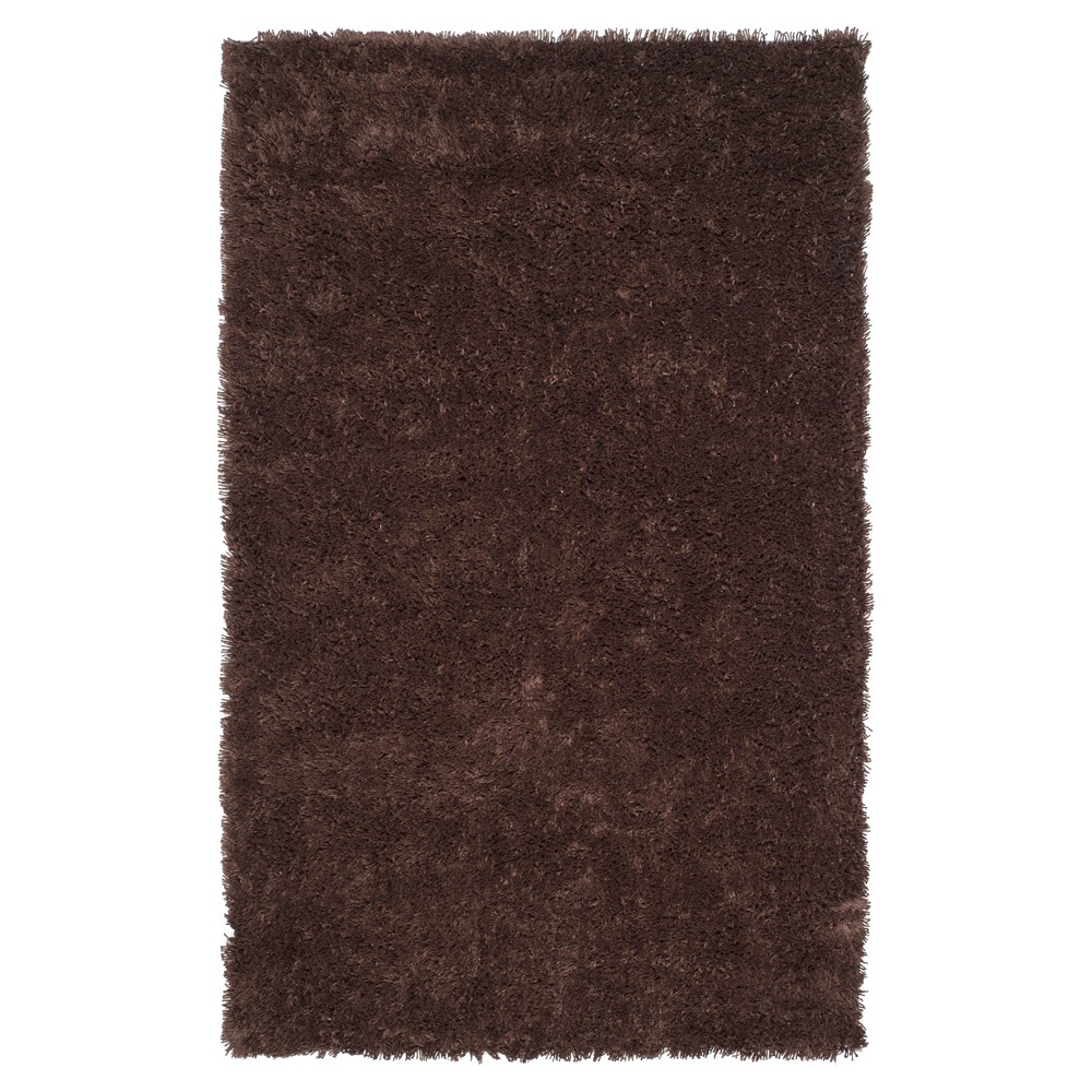 Chocolate (Brown) Solid Tufted Area Rug - (9'6