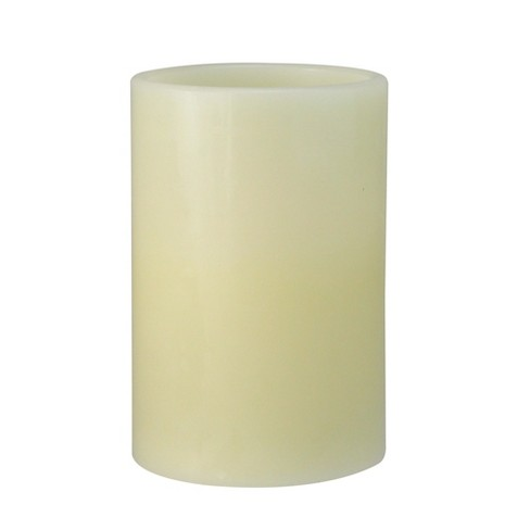 "Northlight 6"" Prelit LED Battery Operated Flameless Flickering Pillar Candle - Ivory - image 1 of 2"