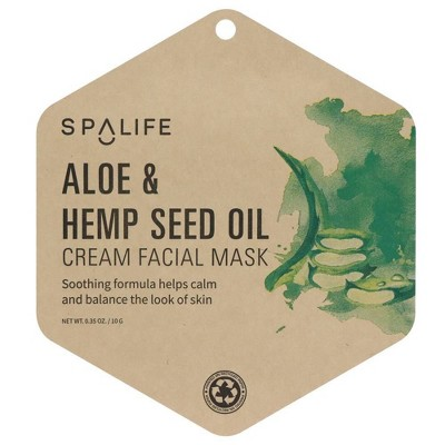SpaLife Aloe & Hemp Seed Oil Cream Facial Mask - 0.35oz