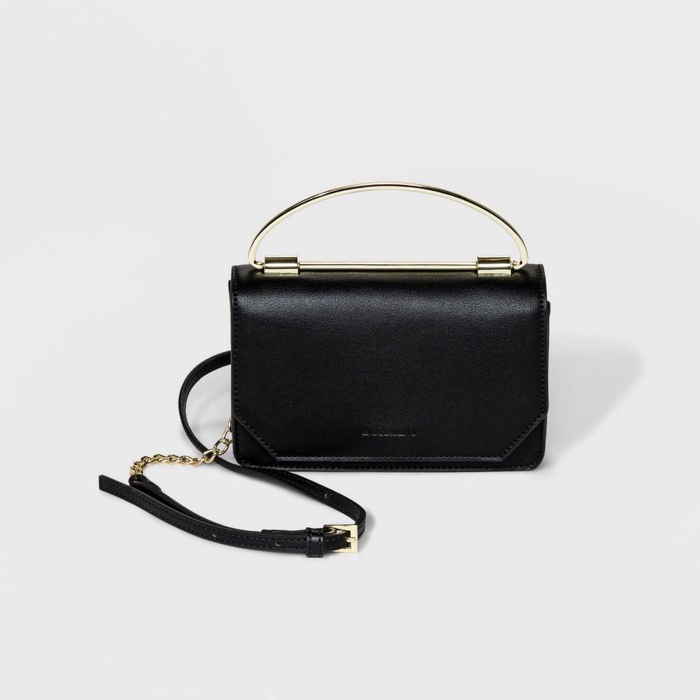 Image of Borsani Grayson Mini Satchel Handbag - Black, Women's