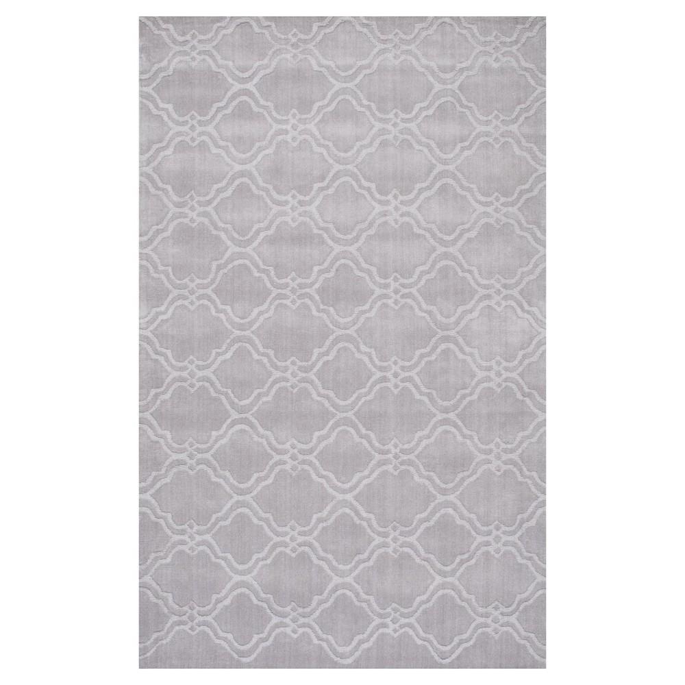 nuLOOM 100% Wool Hand Tufted Wilhelmina Area Rug - Gray (7'6