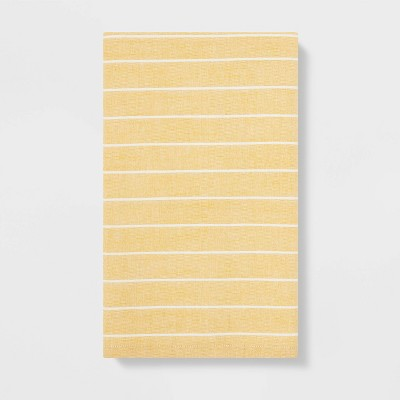 Striped Flat Weave Kitchen Towel Yellow - Project 62™