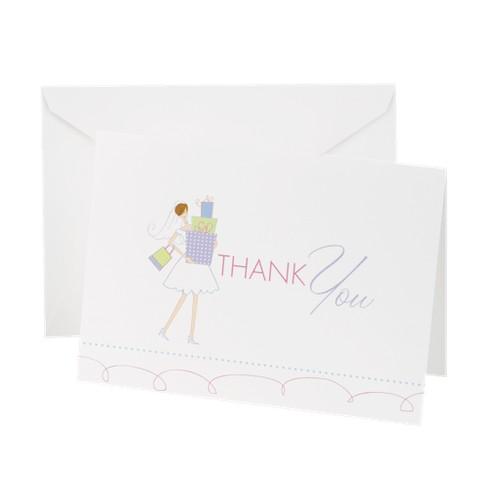 bridal shower thank you cards 25ct target