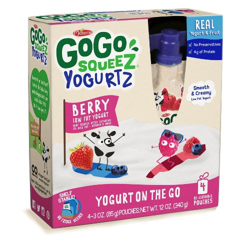 Gogo Squeez Yogurt On The Go Berry Yogurt 4ct - 3oz - image 1 of 1