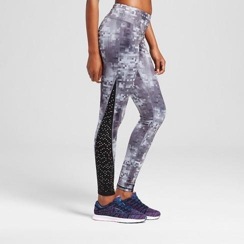 8073217eef4d Women s Embrace Laser Cut Leggings - C9 Champion® Black Gray Glitch ...