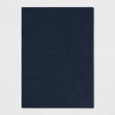 Blue Solid Washable Area Rug 5'X7' - Made By Design™