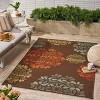 5' x 8' Henley Floral Outdoor Rug Brown/Blue - Christopher Knight Home - image 3 of 4