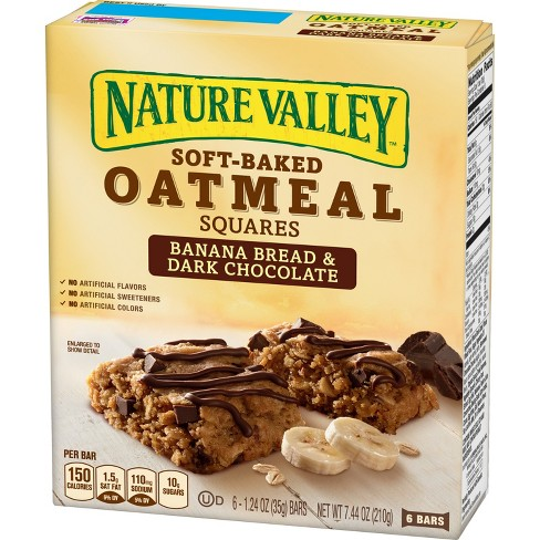 Nature Valley Soft-Baked Banana Bread And Dark Chocolate Oatmeal Squares - 7.44oz - image 1 of 3