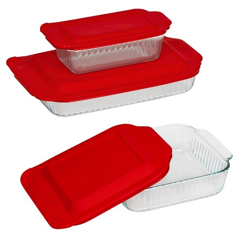 Pyrex 6 Piece Sculpted Bakeware Set - image 1 of 1