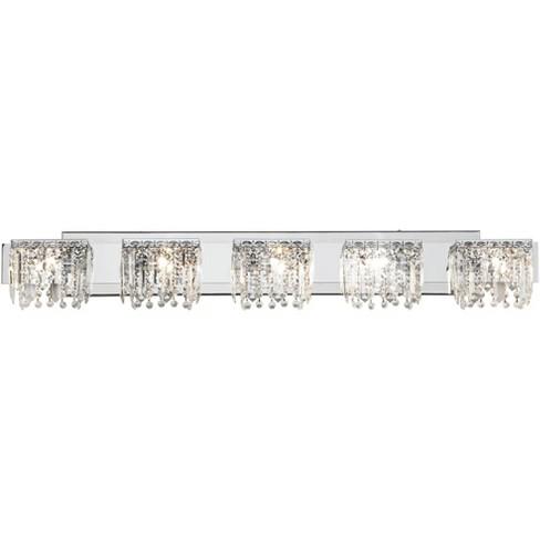 Possini Euro Design Modern Wall Light, Crystal Bathroom Vanity Light