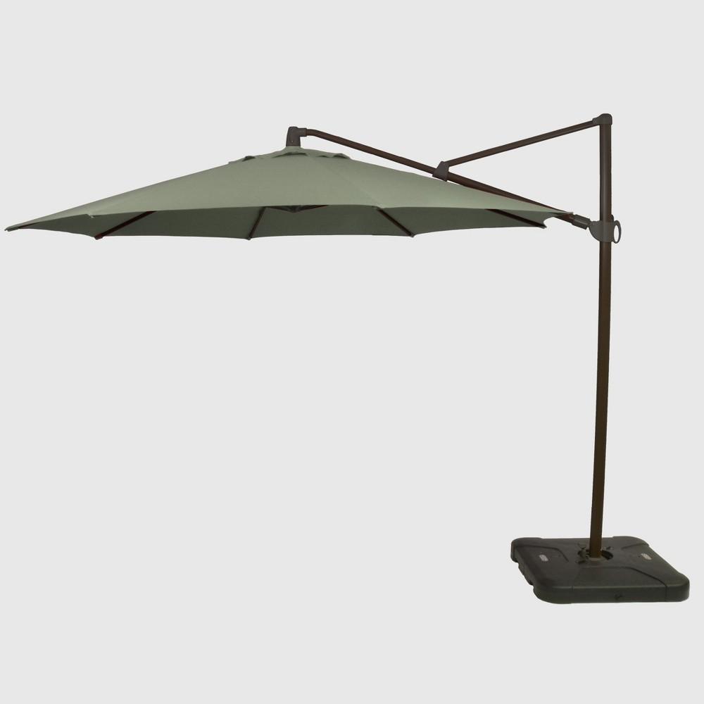 11' Offset Patio Umbrella Sunbrella Spectrum Dove - Black Pole - Smith & Hawken
