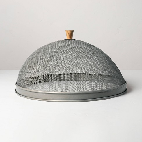 Mesh & Wood Food Dome - Hearth & Hand™ with Magnolia - image 1 of 3