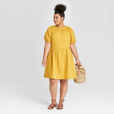 Women's Plus Size Short Sleeve Smocked Gauze Dress - Universal Thread™