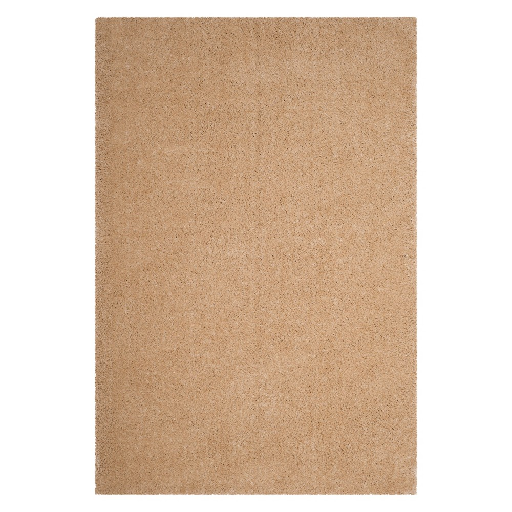 6'X9' Solid Loomed Area Rug Champagne (Beige) - Safavieh