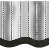 Kate Aurora Living Country Farmhouse Striped Window Valance Curtain Treatments - Assorted Colors - image 3 of 3