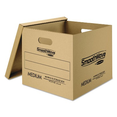 Bankers Box SmoothMove Classic Moving Boxes 8-SM: 15l x 12w x 10h 4-MED: 18l x 15w x 14h 7716401