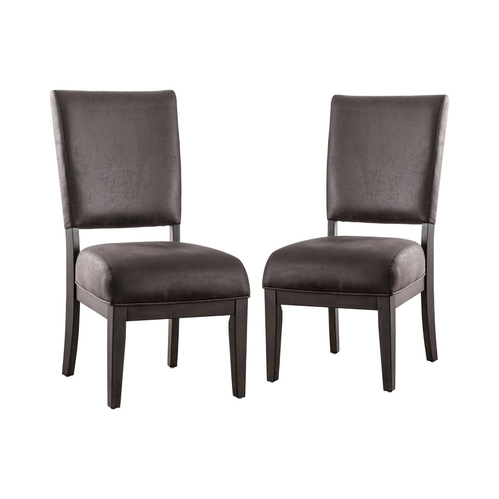 Set of 2 Mandrell Upholstered Dining Chairs Gray - Sun & Pine