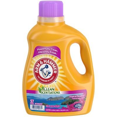 Arm & Hammer Clean Scentsations Tropical Paradise Liquid Laundry Detergent - 100.5 fl oz
