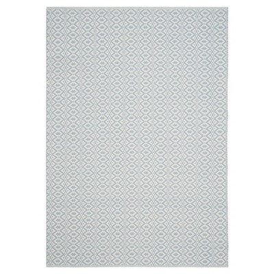 Kalina Flatweave Area Rug - Ivory / Light Blue (5' X 7')- Safavieh®