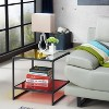Denver End Table Glass/Metal Red - miBasics - image 4 of 4