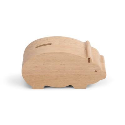 DEMDACO Natural Baby - Piggy Bank 6 x 3 - Brown