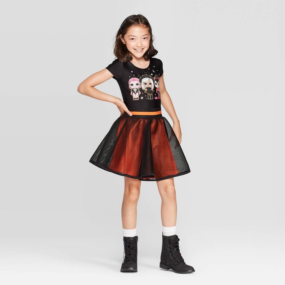 Image of Girls' L.O.L. Surprise! Halloween 2pc Bodysuit & Skirt - Black L Plus, Girl's, Size: Large Plus