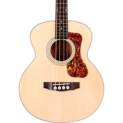 Guild Jumbo Junior Acoustic-Electric Bass Guitar Flame Maple