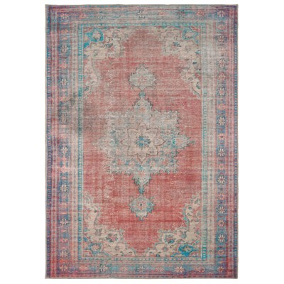 Selena Faded Traditional Rug Red/Blue