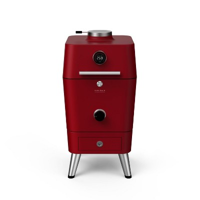 """Everdure By Heston Blumenthal 4K 21"""" Charcoal Grill & Smoker - Red - HBCE4KRUS"""