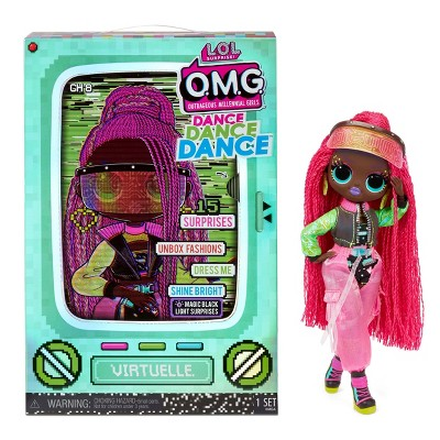 L.O.L. Surprise! OMG Dance Dance Dance Virtuelle Fashion Doll with 15 Surprises Including Magic Blacklight Shoes