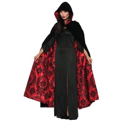 Adult Cape Velvet Satin Halloween Costume